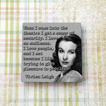 Vivien Leigh Quote Old Vintage Hollywood Ceramic Tile Refrigerator Fridge Magnet Cubicle Dorm Decor Magnet Board