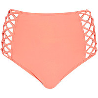 River Island Womens Orange high waisted bikini bottoms