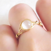 White Iridescent Ring