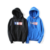 Supreme Flag Hoodies Classics Hip-hop Cotton Sweatshirt [9448822919]