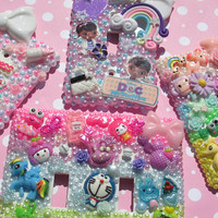 Bling decoden cute light switchplate little girl ddlg pink princess style  kawaii child room