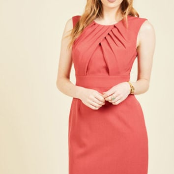 Pleated Leader Sheath Dress | Mod Retro Vintage Dresses | ModCloth.com