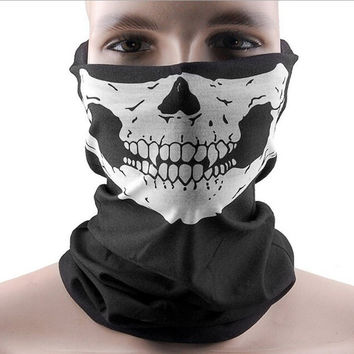 Fashion New Dust Mask Skeleton Ghost Skull Pattern Face Mask Biker Of Duty Cos Costume Game Black Drop Shipping