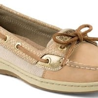 Sperry Top-Sider Angelfish Fishscale Slip-On Boat Shoe Cognac/Gold, Size 6.5M  Women's Shoes