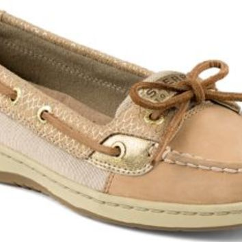 32a1c8d5de4 Sperry Top-Sider Angelfish Fishscale Slip-On Boat Shoe Cognac/Gold, Size 6M  Women's Shoes