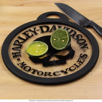 Harley-Davidson Skull Glass Cutting Board
