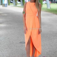 TAKE ME AWAY MAXI DRESS , DRESSES, TOPS, BOTTOMS, JACKETS & JUMPERS, ACCESSORIES, 50% OFF SALE, PRE ORDER, NEW ARRIVALS, PLAYSUIT, COLOUR, GIFT VOUCHER,,MAXIS,Orange,SLEEVELESS Australia, Queensland, Brisbane