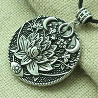 Lotus Midnight Bloom Necklace