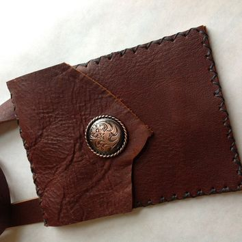 Small Rustic Leather Purse - $28.00 - Handmade Crafts by LeatherCrafted