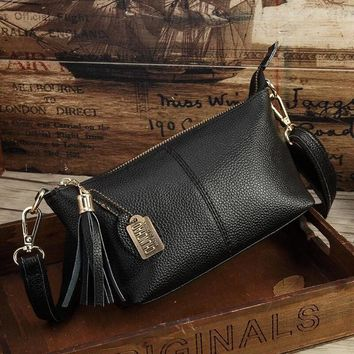 Family Friends party Board game Ladies' Genuine Leather Handbag Tassel Bag Hobos New Fashion Women Bag 2018 Shoulder Bag Package Soft Totes Bag For Women AT_41_3