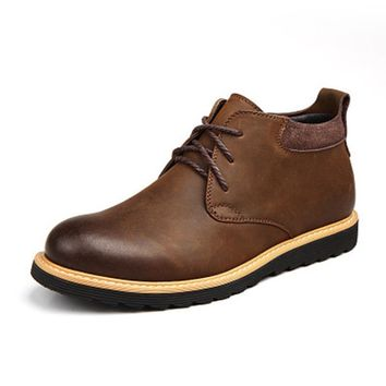 Genuine Leather Lace Up Work&Safety Ankle Boots