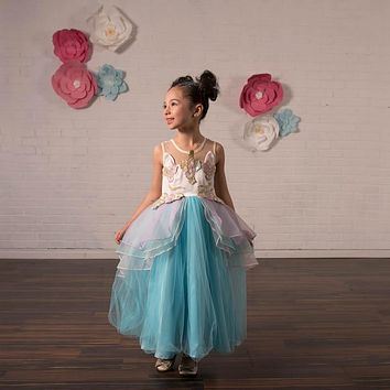 Unicorn Mint Tulle Gown Dress