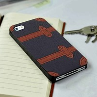 Burberry Flip Leather iPhone 4 or 4s 5 5s 5c case and Samsung galaxy s3 s4 case