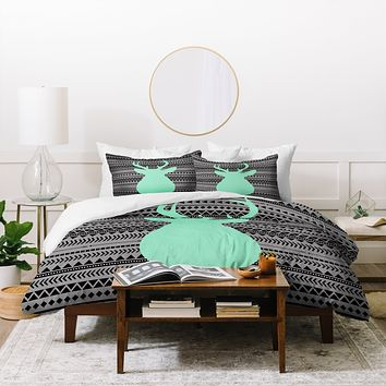 Allyson Johnson Deer And Aztec Duvet Cover