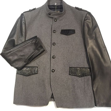 G-Gator Leather Sleeved Wool/Alligator Jacket
