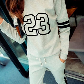 Women's Slim Pants and Sweater Comfortable Casual Sports Suits Gift 186