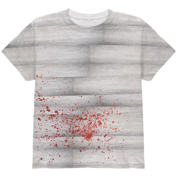 Halloween Bloody Mummy All Over Youth T Shirt