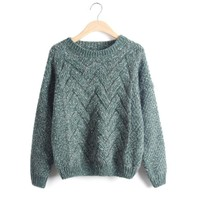Batwing Sleeve Pullover Winter Sweater [8422523585]