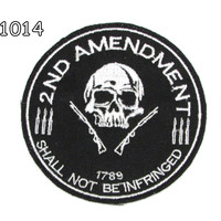 2ND AMENDMENT 1789 Iron on Small Badge Patch for Motorcycle Biker Vest SB1014