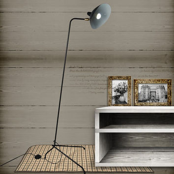 Modern Creative Black Iron Body One Arms Floor Lamp Loft Industrial Standing Lamp Hotel Bedroom Study Living Room Light