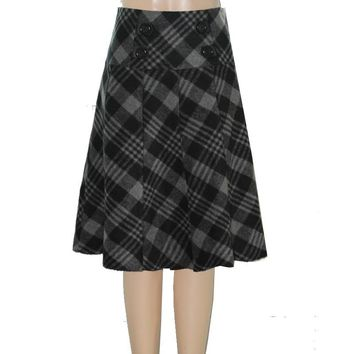 Women Casual Plaid Skirts For Ladies Plus Size Woolen Skirt 5XL, 6XL Fashion Professional OL Woolen Skirt Knee-Length Skirt