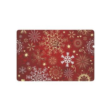 Autumn Fall welcome door mat doormat Happy New Year Anti-slip  Home Decor, Winter Holiday Merrry Christmas Snowflake Indoor Outdoor Entrance  AT_76_7