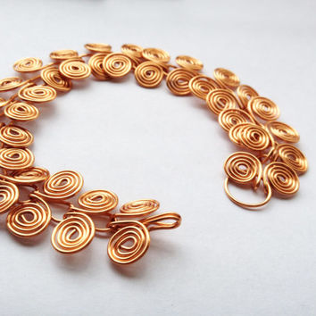 Copper Egyptian Coil wire ancient spiral infinity cleopatra bracelet