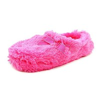 Jessica Simpson Womens Furry Scuff Slippers