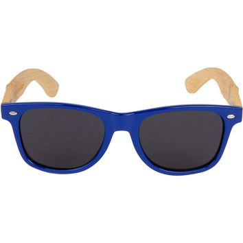 Blue Hybrid Bamboo Wood Sunglasses