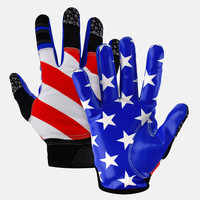 USA America flag football wide receiver gloves
