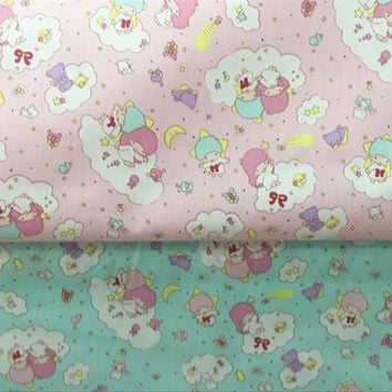 half meter star princess print cotton fabric for Kid Bedding textile for Sewing Tilda Doll, DIY home decor material A256