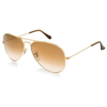 Ray Ban Aviator RB3025-58 Gold/Brown Sunglasses