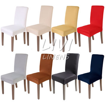 Dining Room Decoration Chair Cover Spandex Fabric Wedding Chair Covers Resterant Hotel Party Banquet Chair Slipcovers