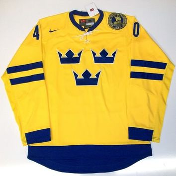 HENRIK ZETTERBERG TEAM SWEDEN NIKE HOCKEY JERSEY DETROIT RED WINGS