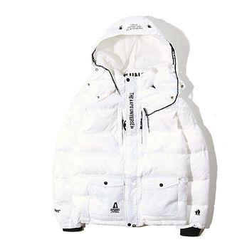 AAPE BAPE Cotton jacket down jacket Coat M--XXL