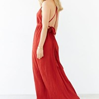 Band Of Gypsies Grecian High-Neck Crepe Maxi Dress-