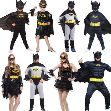 NoEnName Cosplay anime  Adult Batman Costumes Halloween Dress Party Clothing holiday Carnival Costumes Handsome Batman Jumpsuit