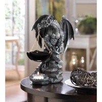 Chiseled Mythical Dragon Oil Warmer
