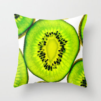 Kiwi Throw Pillow by Marion Torres Photography | Society6
