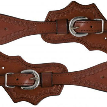 Scalloped Leather Spur Straps