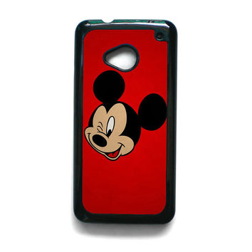 Mickey Mouse Red Background Wallpaper for HTC ONE M7/M8/M9 phonecases
