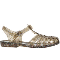 Angelica Jelly Sandal - Party Glitter Smoke