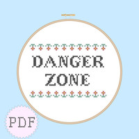 INSTANT DOWNLOAD Counted cross stitch PDF pattern Archer Danger Zone