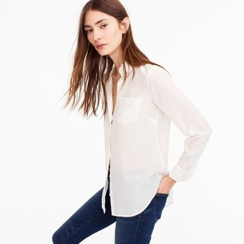Silk button-up shirt