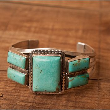 Sterling Silver Turquoise Cuff Bracelet