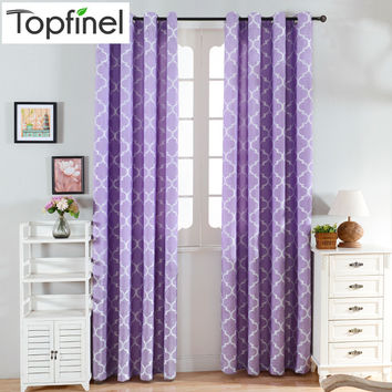 Top Finel 2016 Quatrefoil Modern Window Curtains for Living Room Bedroom Kitchen Window Treatments Panels Fabric and Draperies