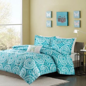 Mizone Nia Comforter Set in Teal