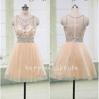 short Prom Dress/short Bridesmaid Dress/custom color tulle  Evening Dress/Homecoming Dress/Graduation Dress/Formal Dress/wedding party dress