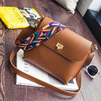 Leather Mini Shoulder bags Simple Flap Sling Crossbody Messenger Bags Colorful