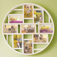 ModCloth Dorm Decor Round Here Photo Frame in White